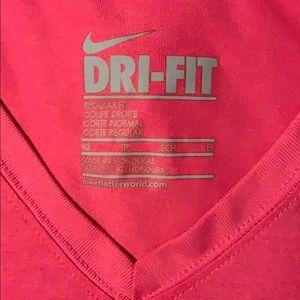 Nike XS Pink Dri Fit T Shirt